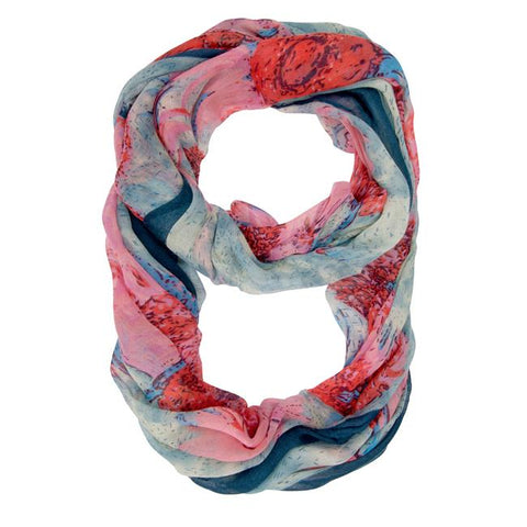 Farrah Multicolor Floral Print Infinity Scarf