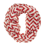 Striped Burgundy Infinity Scarf