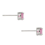 Pink Cubic Zirconia Stud Earrings