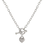 Toggle Pave Heart Necklace