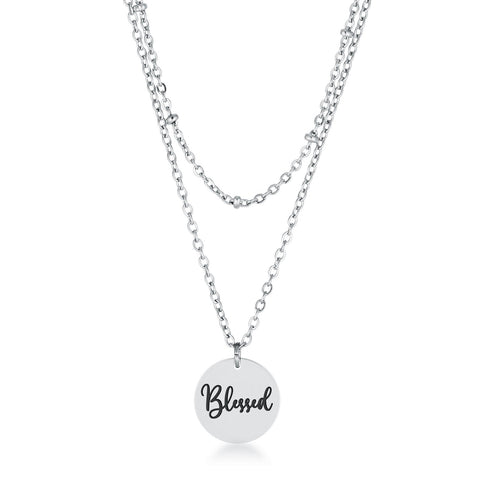 Delicate Stainless Steel Blessed Necklace