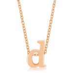 Rose Gold Finish Initial D Pendant