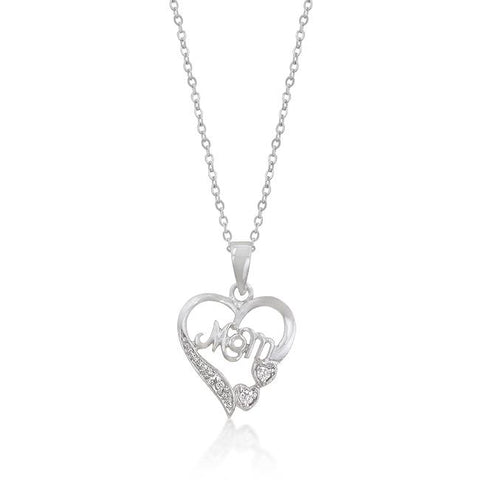 #1 Mom Heart Pendant