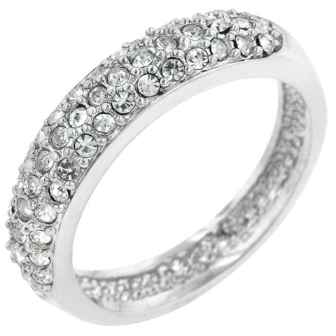 Pave Crystal Silvertone Band