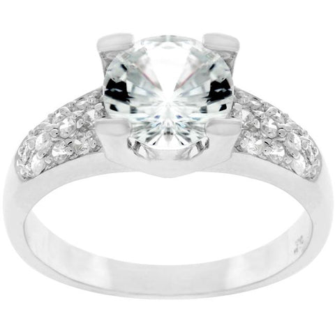 Classic Clear Engagement Ring