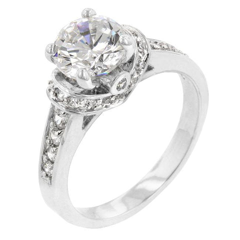 Rhodium Plated Regal Ring