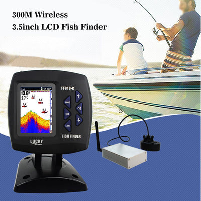 Fish Finder - Lucky Portable Wireless Fish Finder FF918-CWLS Best Fishing Finder Tool Pesca With Remote Fishfinder With English Menu