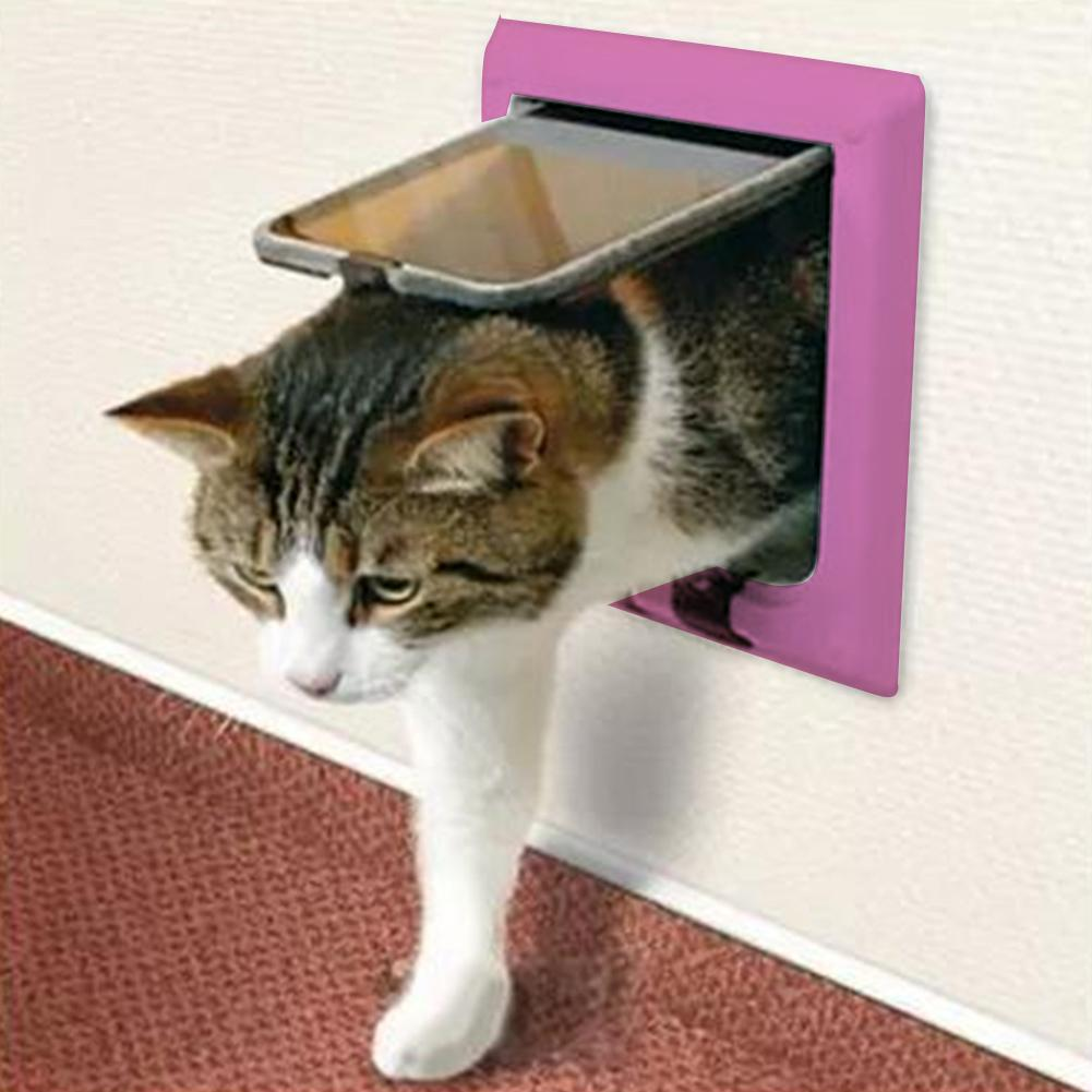 lockable magnetic cat flap door opening doors safe pet small puppy gate white dog way medium itm
