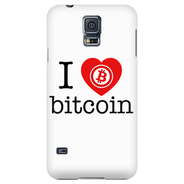 Phone Cases - I Love Bitcoin Phone Case