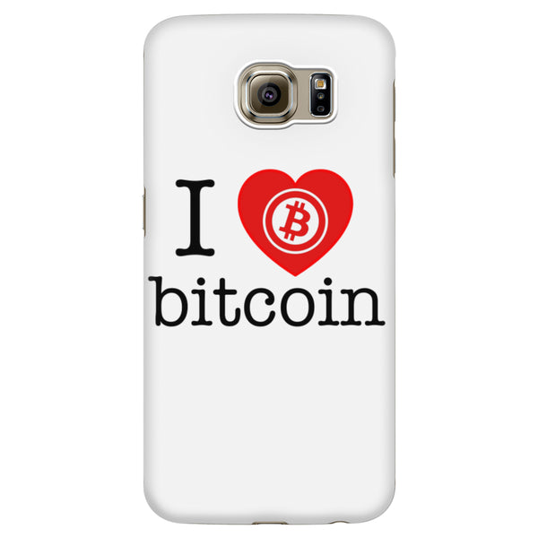 I Love Bitcoin Phone Case