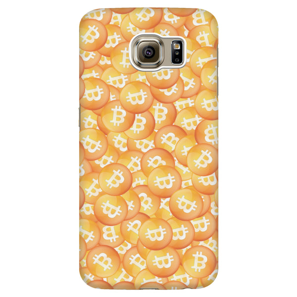 Scattered Bitcoins Phone Case