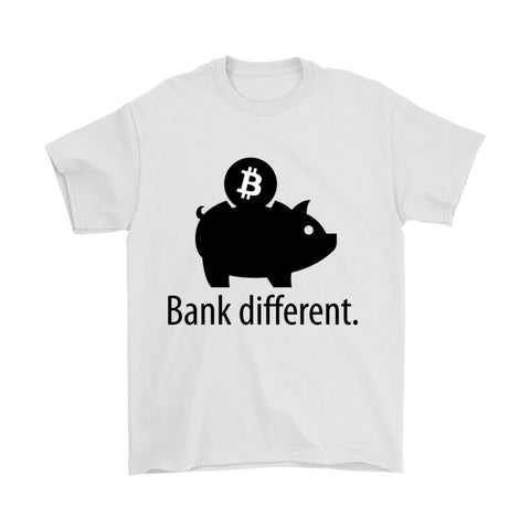 T-shirt - 'Bank Different' Premium Bitcoin T-Shirt