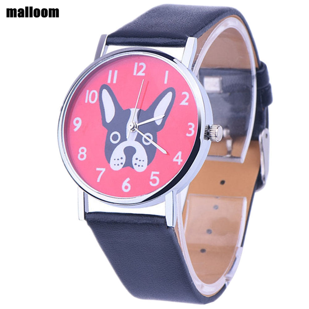 leather pu women pug watchband watches pet fashion men band dog silicone s casual