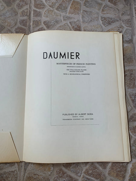 "Vintage Skira ""Daumier: Masterpieces of French Painting"" Art-Book"