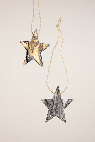 Marbled Star Ornament