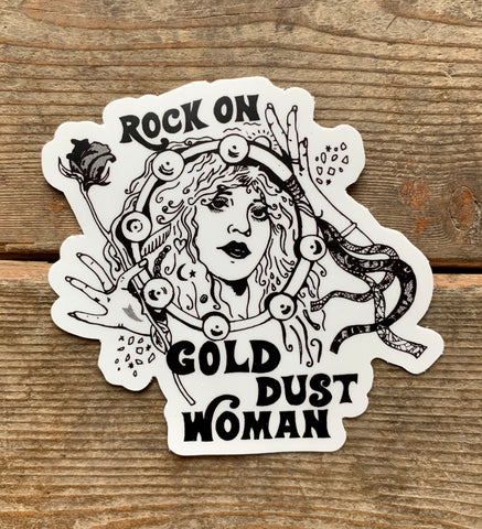 Gold Dust Woman Sticker