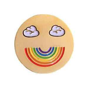 Rainbow Smiler Pin