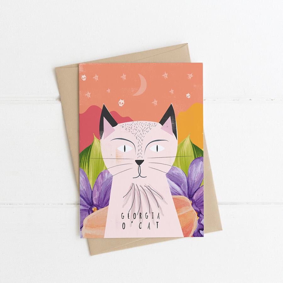 Georgia O'Cat Card