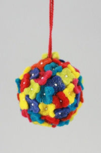 Multicolored Posies Ornament