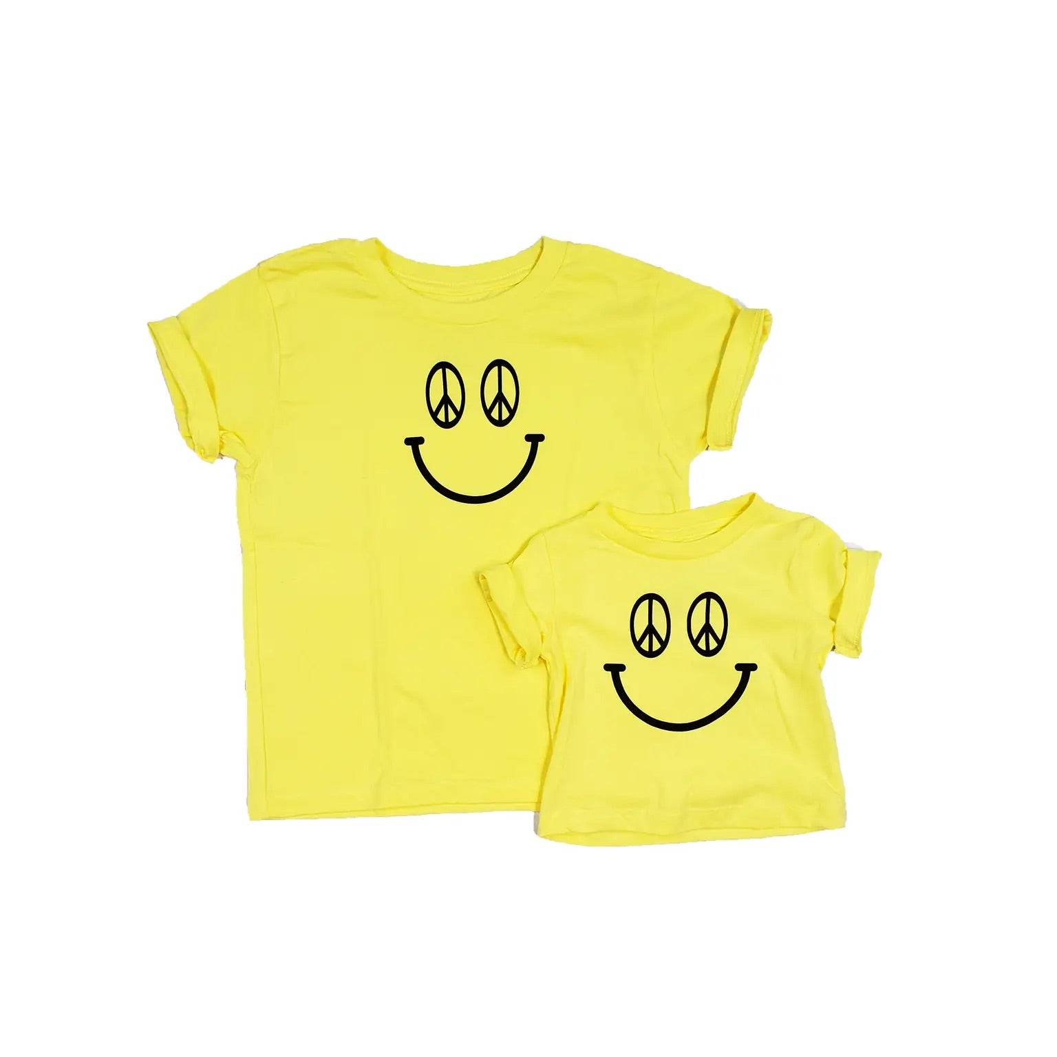 Peace Sign Smiley Kids Tee