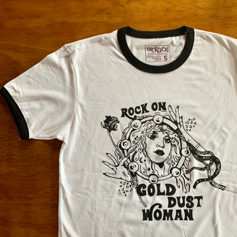 Gold Dust Woman Unisex Ringer Tee
