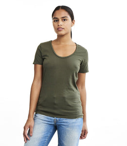 Organic Cotton Swoop Neck Tee