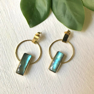 Full Moon Labradorite Earrings