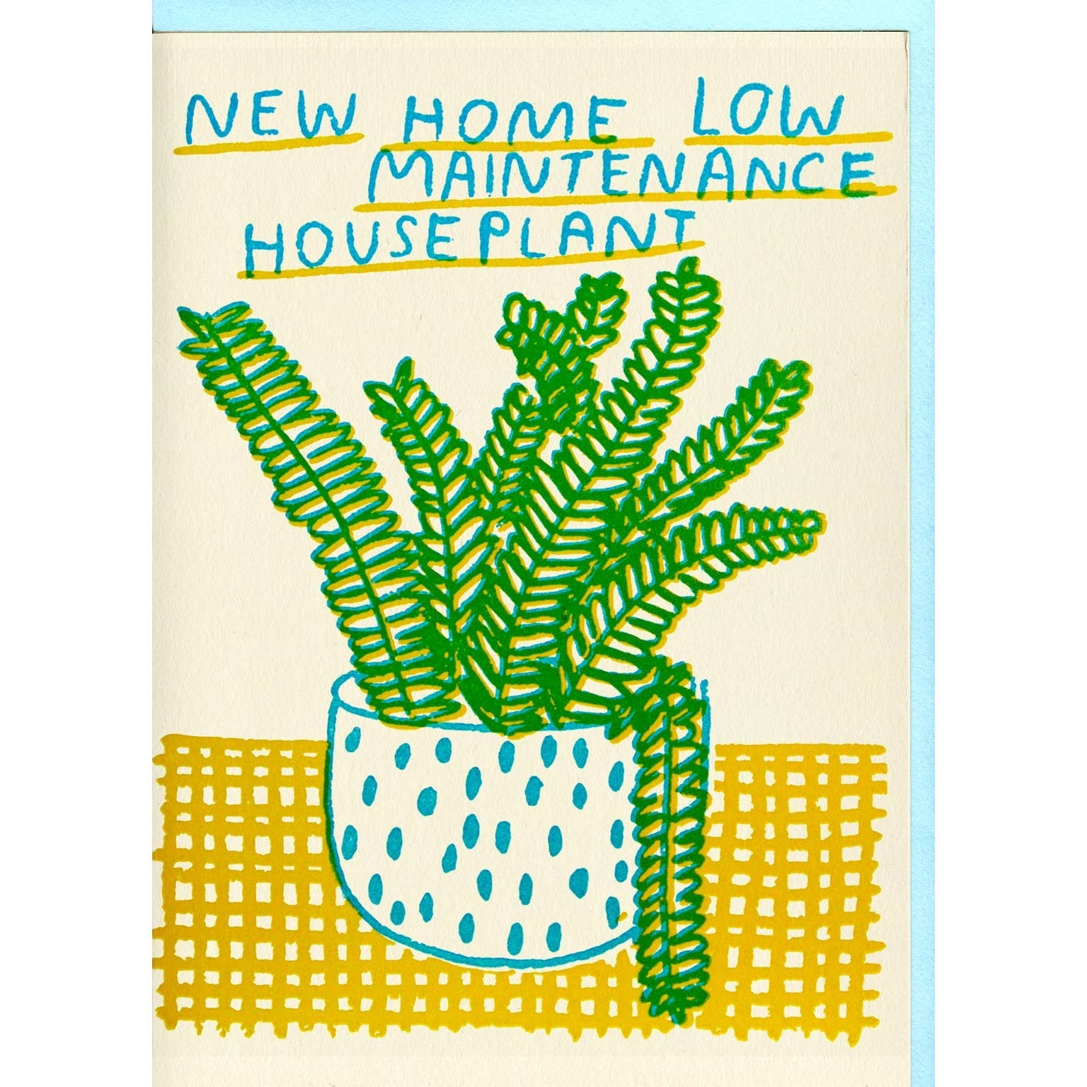 New Home Houseplant Card