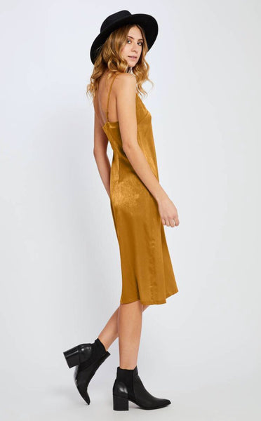 Jenica Dress - Antique Gold