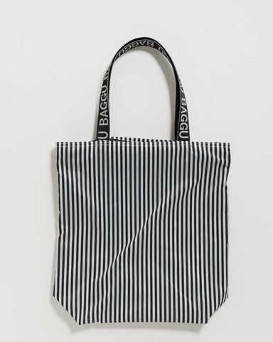 Ripstop Tote - Black and White Stripe
