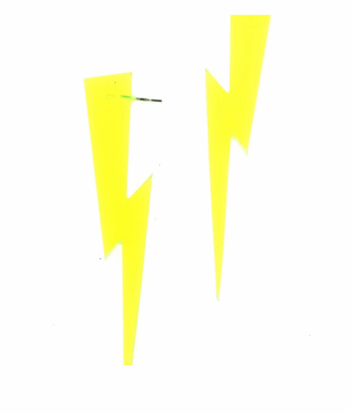 Lightning Bolt Earrings in Clear Green