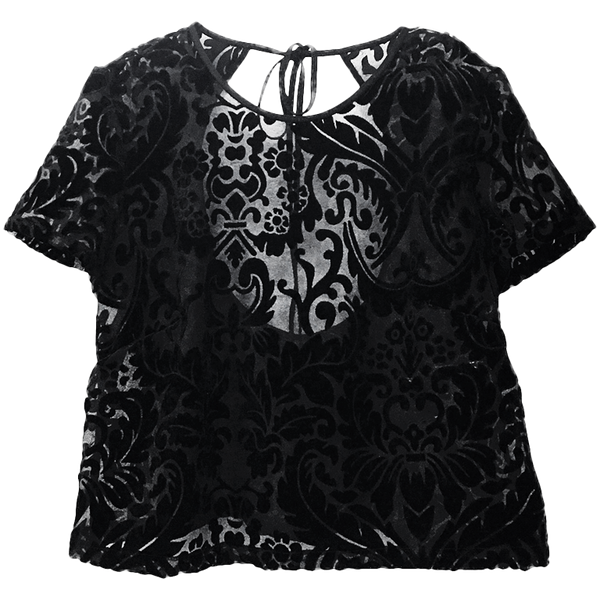 London Shirt - Black Velvet Burnout