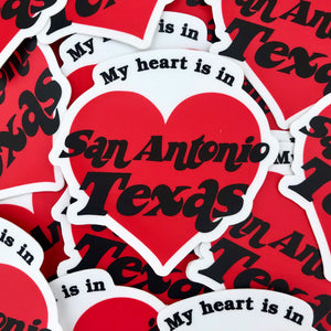 My Heart Is In San Antonio Sticker