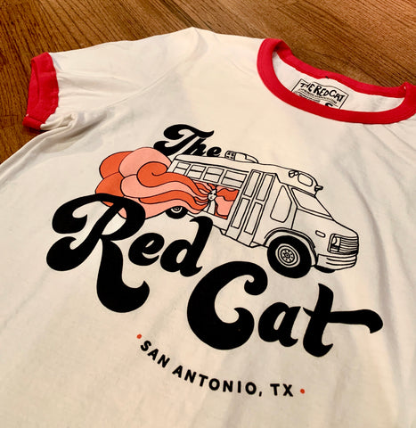 Red Cat Ringer Tee