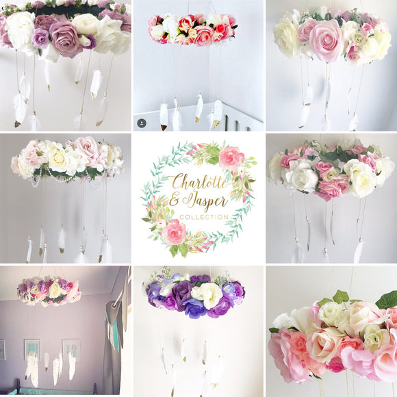 Floral mobiles
