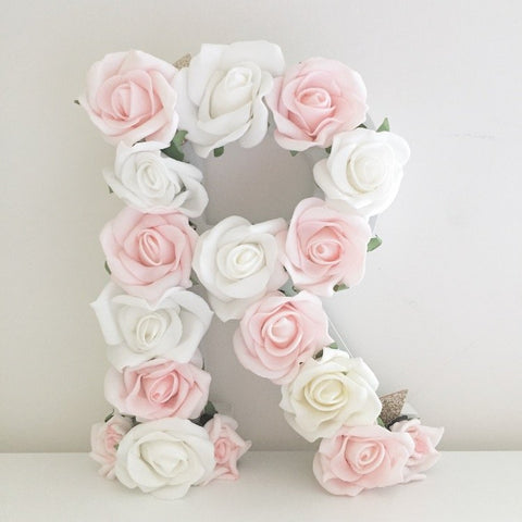 Wooden floral letters full flowers