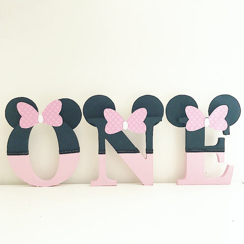 Mouse ears wooden letters