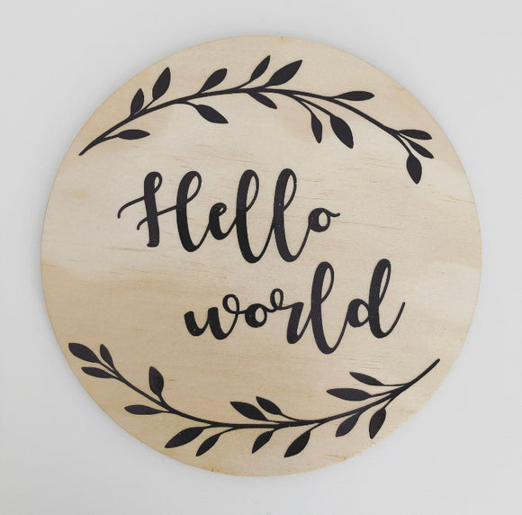 Hello world plaque