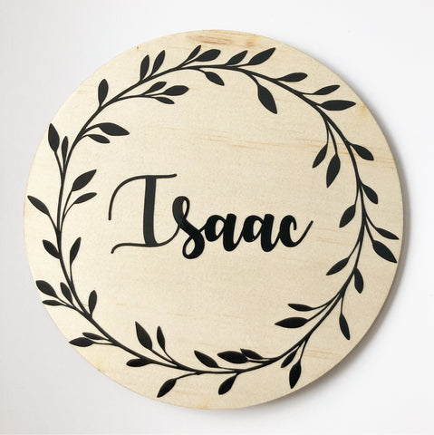 Personalised round plaque