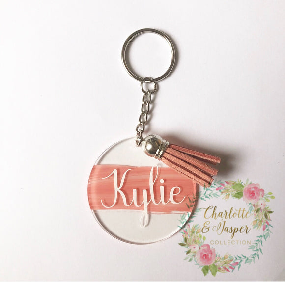 Personalised tassel key ring