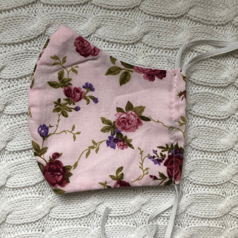 Face covering youth pink floral
