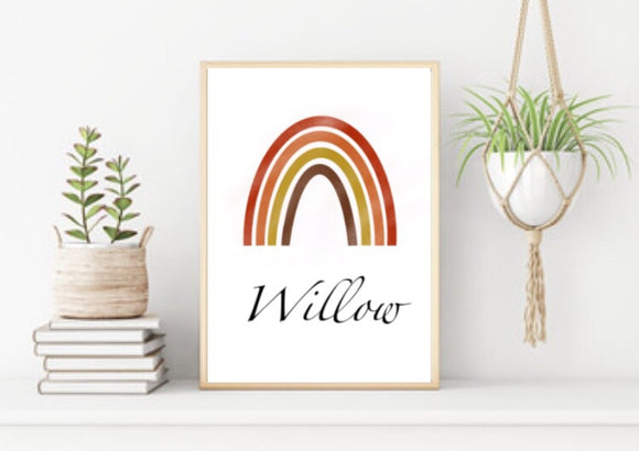Personalised rainbow
