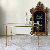 Vintage Oval Gold Table