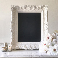 White Chalkboard Sign - WS2