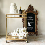 Brush Gold Finished Bar Cart