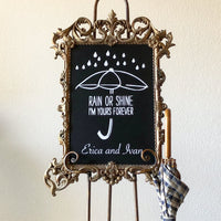 Gold Chalkboard Sign - GS1