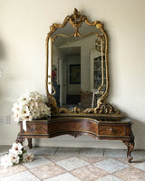 Antique French Mirror and Base