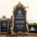 Gold Chalkboard Sign - GL3