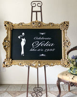 Gold Chalkboard Sign - GL6