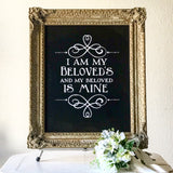 Gold Chalkboard Sign - GM2